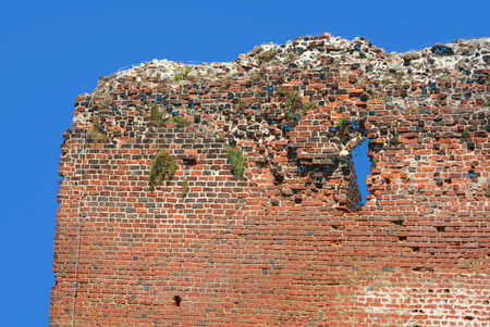 Ruins of Torun Castle built in 1260 by the Teutonic Knights - Poland.