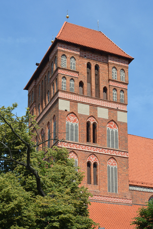 Church of Saint Jacob in the polish city of Torun - Poland.