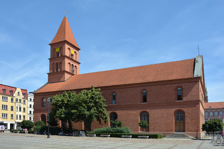 Church of Holy Trinity of 1824 on the New market square Rynek Nowomiejski in Torun - Poland.