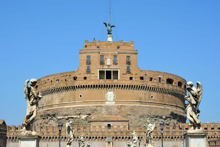 Angel castle with the National Museum in the Italian capital Rome - Italy. Editorial