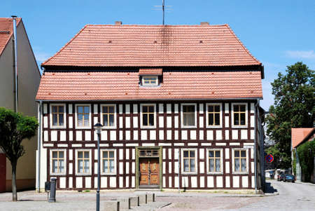 Half-timbered house in the Brandenburg town of Dahme/Mark - Germany.