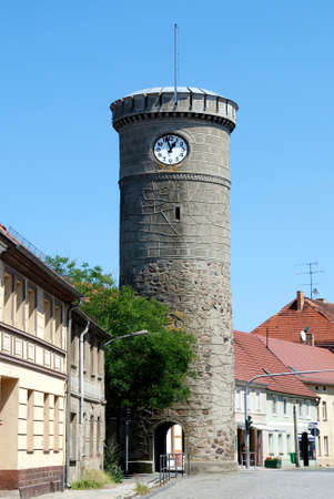 Bird tower in Dahme/ Mark as part of the former city wall of the Brandenburg town - Germany.