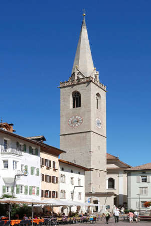 Parish church of Kaltern at the South Tyrolean wine route from the 15th century - Italy. Éditoriale