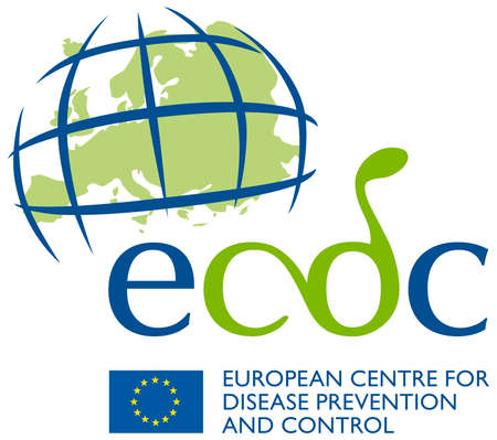 Logo of the European Center for Disease Prevention and Control ECDC based in Solna near Stockholm. - Sweden.