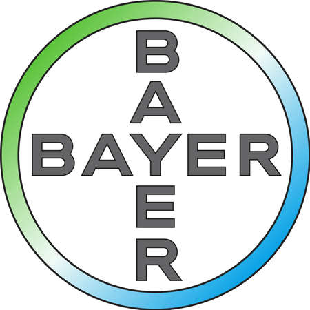 Logo of the German multinational chemical and pharmaceutical company Bayer with seat in Leverkusen - Germany. Editorial