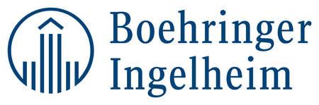 Logo of the German pharmaceutical enterprise Boehringer Ingelheim with seat in Ingelheim at the Rhine - Germany.