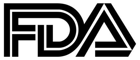 Logo of the Food and Drug Administration FDA of the USA for the food control and admittance of drugs - United States.
