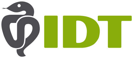Logo of the biopharmaceutical company IDT Biologika with seat in Dessau-Roßlau - Germany. Editorial