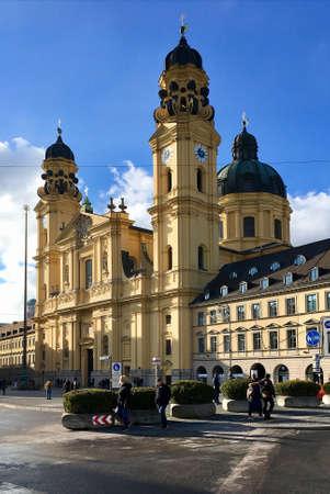 The Theatine Church on Odeonsplatz in Munich - Germany.