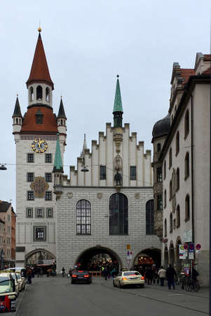 Old Townhall with toy museum on Marienplatz in the old town of Munich - Germany. Editorial