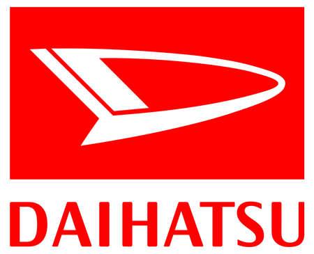Company logo of the Japanese automobile manufacturer Daihatsu Motor corporation - Japan. Editorial