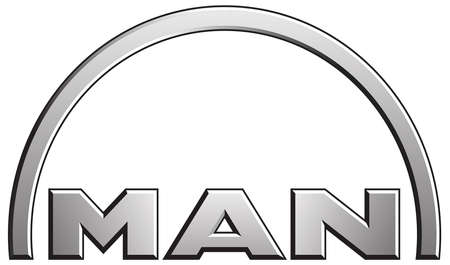Company logo of the German vehicle and mechanical engineering group MAN based in Munich - Germany. Editorial
