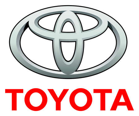 Company logo of Japanese automotive corporation Toyota - Japan. Editorial