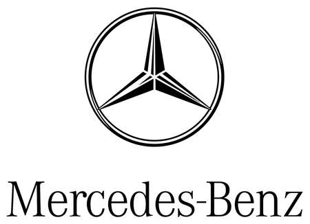 Logo of the make of car Mercedes-Benz of the German motorcar group Daimler AG with seat in Stuttgart - Germany. Editorial
