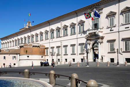 Quirinal Palace at the Piazza del Quirinale in Rome - Residence of the President of the Italian Republic - Italy.