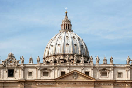 Dome of the Saint Peters Basilica in the Vatican City in Rome - Italy-
