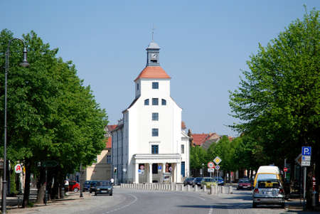 City hall of the town Treuenbrietzen in the Flaeming in Brandenburg - Germany.