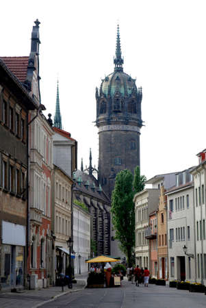 Castle church in the old town of Wittenberg - Germany.