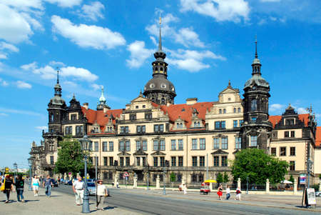 The reconstructed Saxon Residence castle in the Saxon capital Dresden. - Germany. Redactioneel