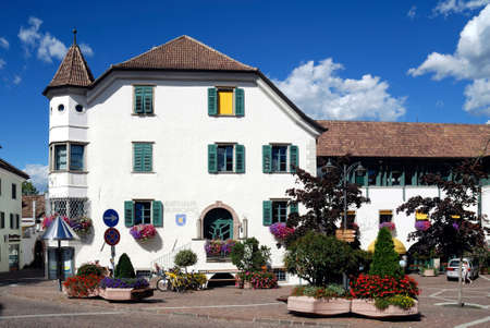 City hall of the municipality of Eppan in Saint Michael at the South Tyrolean wine route - Italy.