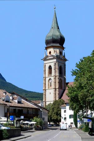 Gothic parish church of St. Paul at the South Tyrolean wine street near Bolzano - Italy.