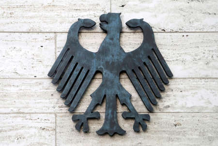 Federation eagle at the receipt of the Foreign Office of the Federal Republic of Germany on the Werderschen Markt in Berlin - Germany.