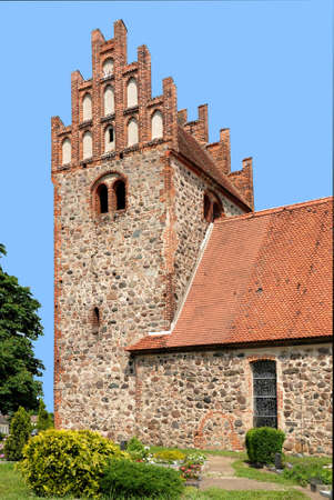 The Fieldstone church of Herzberg near Neuruppin in Brandenburg - Germany.