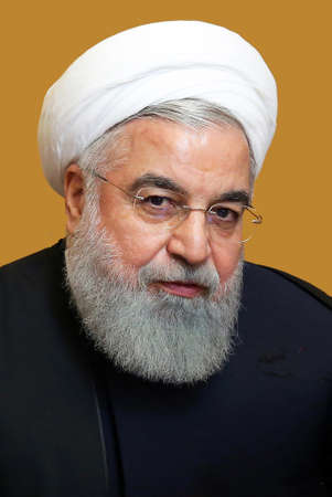 Hassan Rohani - * November 12, 1948: Iranian politician and shiite lawyer, 7th President of the Islamic Republic of Iran since 2013 - Iran. Redactioneel