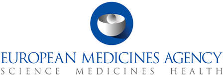 Logo of the European Medicines Agency EMA based in Amsterdam - Netherlands.
