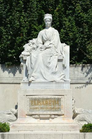 Monument of Empress Elizabeth in the park Volksgarten of Vienna - Austria. Editorial