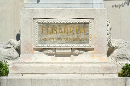 Monument of Empress Elizabeth in the park Volksgarten of Vienna - Austria.