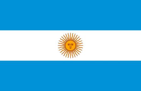 National flag of the Argentine Republic. Standard-Bild