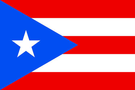 Flag of the Commonwealth of Puerto Rico - USA.