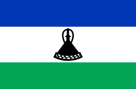 Flag of the Kingdom of Lesotho.