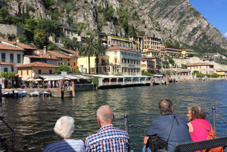 View of Limone sul Garda at Lake Garda - Italy. Standard-Bild - 167047066