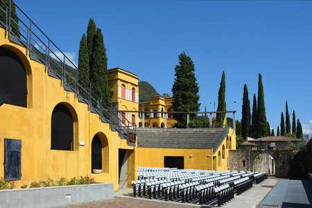 Outdoor theater in the Museum complex of Vittoriale degli italiani in Gardone Riviera at the lake Garda - Italy. Standard-Bild - 167047074