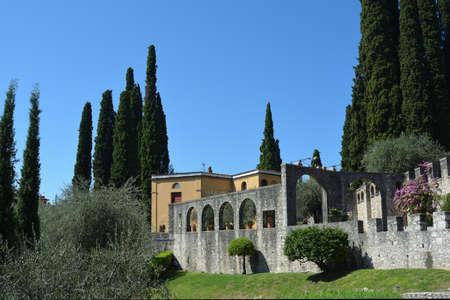 Italian Victory Monument Vittoriale degli italiani in Gardone Riviera - Italy. Standard-Bild - 167047098