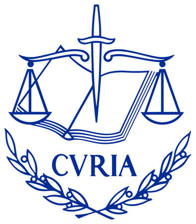 Logo of the European Court of Justice of the European Union with seat in Luxembourg.