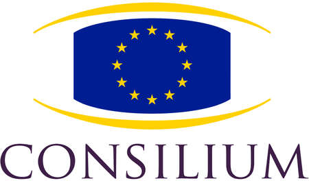 Logo of the Council of the European Union based in Brussels - Belgium.