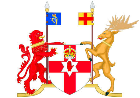 Coat of arms of Northern Ireland in the United Kingdom . Standard-Bild - 167308470
