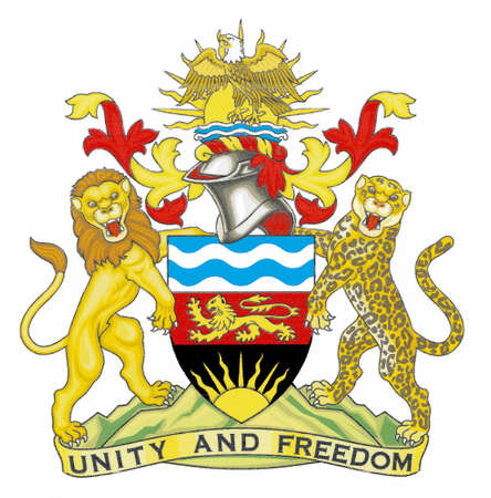 National coat of arms of the Republic of Malawi.