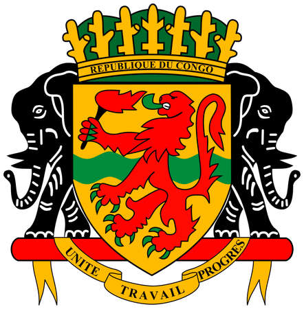 National coat of arms of the Republic of the Congo.