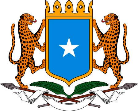 National coat of arms of the Somali Republic. Standard-Bild