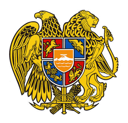 National coat of arms of the Republic of Armenia.