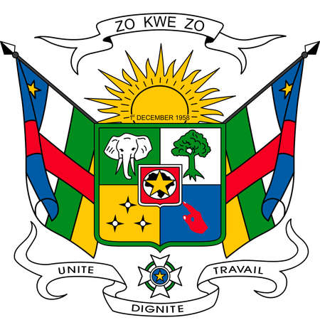 National coat of arms of the Central African Republic.