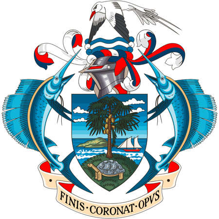 National coat of arms of the Republic of Seychelles.