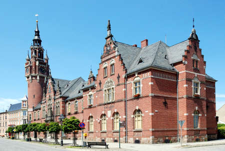 City hall of the city of Dahme / Mark in Brandenburg - Germany. Editorial