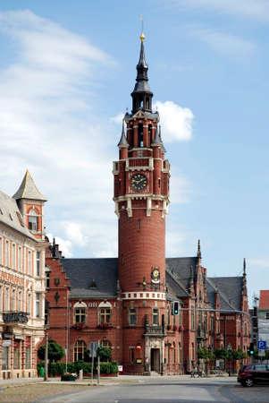 Town hall of Dahme / Mark in Brandenburg - Germany.