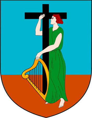 Coat of arms of the British overseas territory Montserrat.