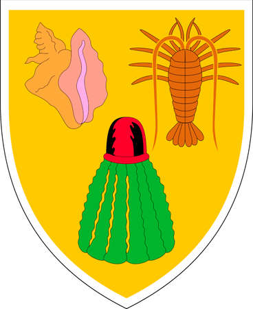 Coat of arms of the British overseas territory Turks and Caicos Islands.